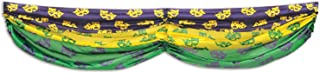 Beistle Comedy and Tragedy Faces Fabric Bunting, 5-Feet 10-Inch, Green/Gold/Purple