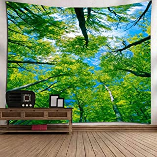 Vic Gray Primitive Forest Wall Clothes Polyester Printed Yoga Mat Table Cloth Home Decor Nature Tapestry,150x130cm