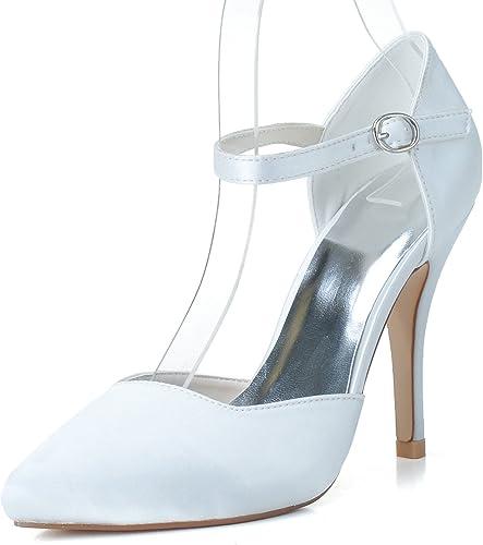 RUGAI-UE Chaussures à Talon Femme Chaussures Sandales Sandales à Talons Hauts, Blanc, US8 EU39 UK6