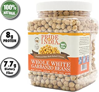 Pride Of India – Indian Whole White Garbanzo Beans 10mm – Protein & Fiber..