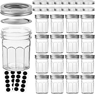 VERONES Mason Jars Canning Jars, 6 OZ Pudding Jelly Jars With Regular Lids and Bands, Ideal for Jam, Honey, Wedding Favors...