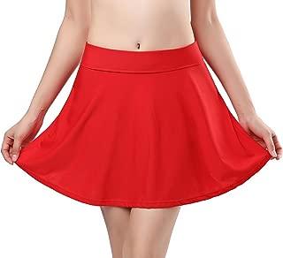 Women's Skirted Bikini Built-in Bottom High Waist Swim Skirt Swimdress Swimsuit