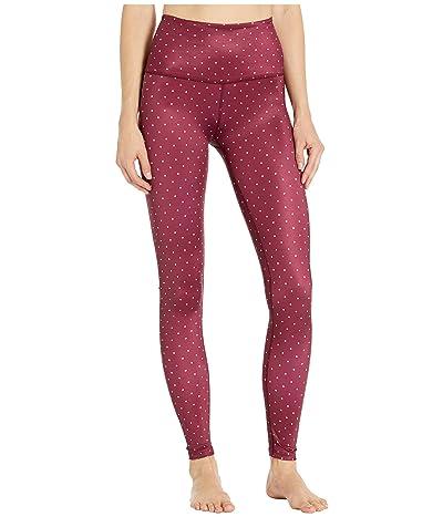 Beyond Yoga Lux Print High Waist Leggings (Front Runner Dot Team Burgundy) Women