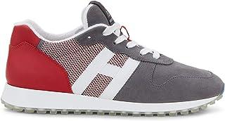 Hogan Sneakers Uomo H383 Grigie e Rosse - HXM4290AN51 N1H50CM - Taglia