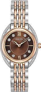 Bulova Classic Quartz Ladies Watch, Stainless Steel Diamond, Two-Tone (Model: 98R230)