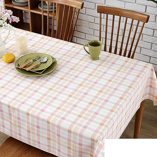 WXTFQB Kunststoff tischdecke Wasserdichter Tisch Tuch und Wasserdichter Tisch Tuch TV Cabinet Table Mat-H 130x190cm(51x75inch)