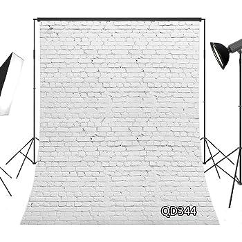 LB 背景布 1.5×2.1m/5x7ft 単色 白いレンガの壁 灰色 ガーデン 写真撮影 バックペーパー 人物撮影 新婚撮影 布バック 背景シート 写真館 撮影スタジオ用 自宅用 結婚式 パーティー