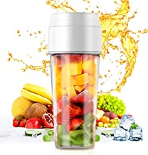 Portable Blender, Mini Personal Blender,Small Smoothie Blender, Fruit Juicer Mixer for Home Outdoor Travel Office with USB Rechargeable, BPA Free,350ml(White)