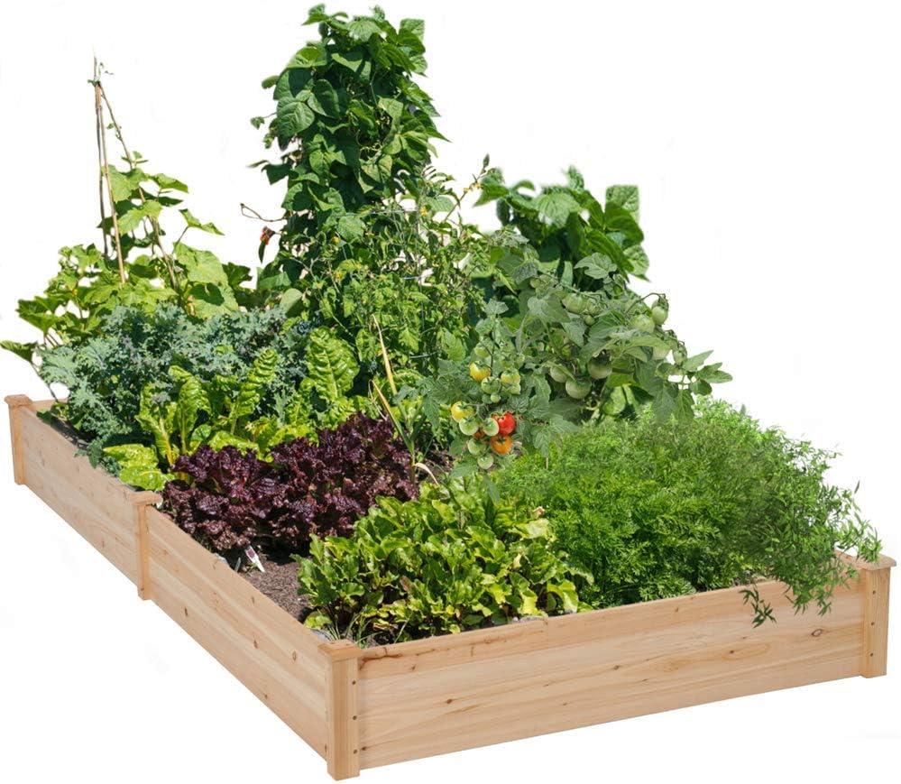 Superlatite Cyanhope Wooden Raised Garden Bed Kit Manufacturer direct delivery V Elevated Box Planter for