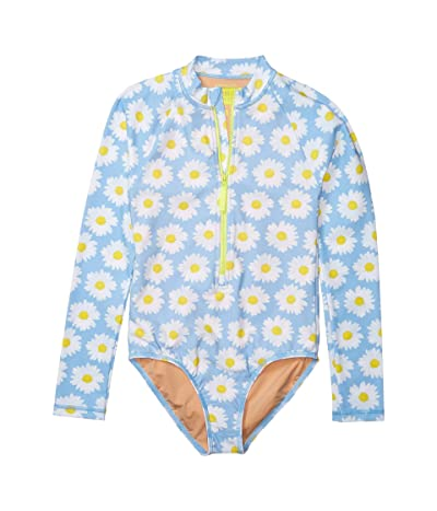 crewcuts by J.Crew Daisies Rashguard Suit (Toddler/Little Kids/Big Kids) (Light Blue/White) Girl