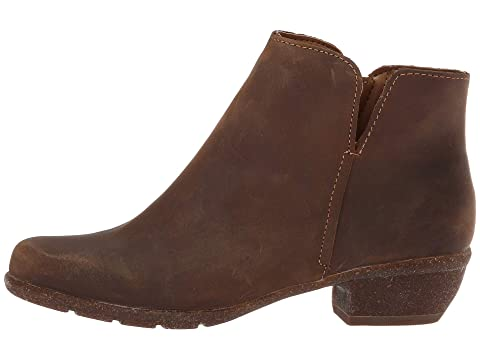 Leathertaupe Cuir Clarks soldes Wilrose Tan Grosses Gel Huilé X6xnP61