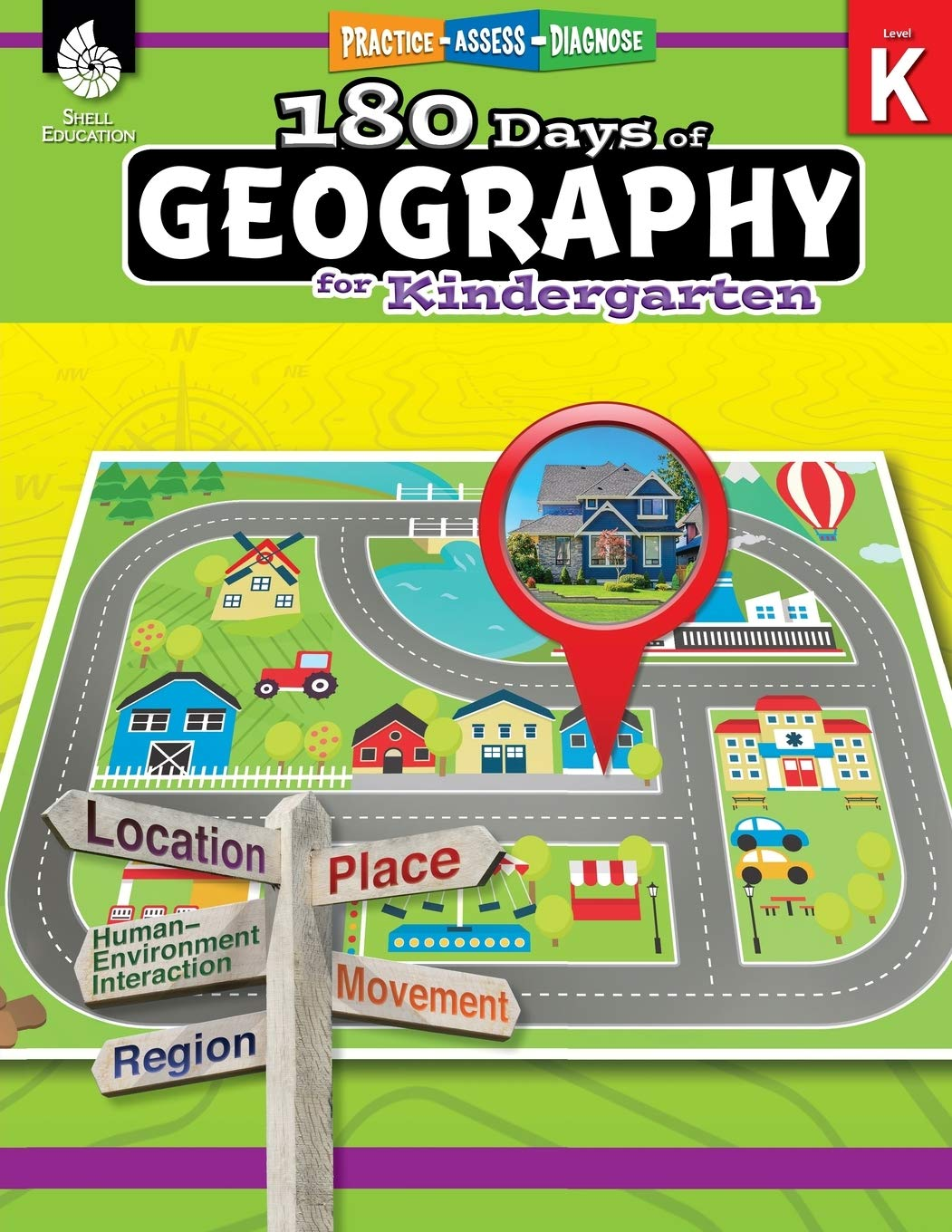 180 Days Of Social Studies: Grade K - Daily Geography Workbook For Classroom And Home, Cool And Fun Practice, Kindergarten...
