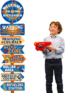 Dart Party Birthday Party Signs Dart War Party Cutouts Blaster Gun Party Supplies Dart Battle Decor for Dart War Fans