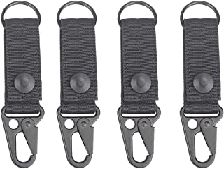 XTACER Tactical Molle Key Ring Gear Key Keeper Keychain Snap Secure (Pack of 4)