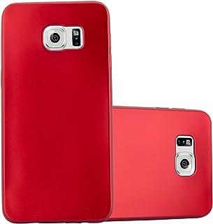 Cadorabo Funda para Samsung Galaxy S6 Edge Plus en Metallic Rojo - Cubierta Proteccíon de Silicona TPU Delgada e Flexible con Antichoque - Gel Case Cover Carcasa Ligera