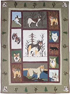 Patch Magic Twin Patch Call of the Wild Quilt, 65-Inch by 85-Inch