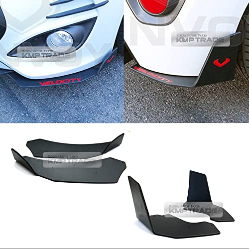 Canard Front Cup wing, Rear Cup wing Bumper Body Kit Matte Black For HYUNDAI Veloster