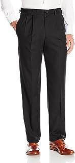 Haggar Men's Cool 18 Pro Classic Fit Pleat Front Expandable Waist Pant