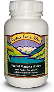 Nectar Ease Plus Capsules, with Added Bee Venom, Genuine New Zealand Manuka Honey, non-GMO - Nelson Honey