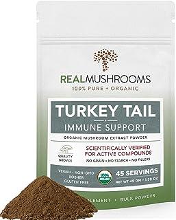 Sponsored Ad - Real Mushrooms Turkey Tail Mushroom Supplements for Immune Support, Wellness, Vitality (45 Day Supply) Orga...