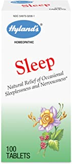 Natural Sleep Aid Pills by Hyland's, Insomnia and Stress Relief Supplement, 100 Quick-Dissolving Tablets