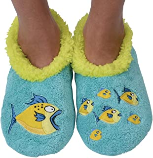 Pairables Womens Slippers - House Slippers - Big Fish Little Fish