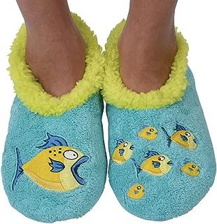 Womens Classic Splitz Applique Slipper Socks | Cozy Womens Slipper Socks | House Slipper Socks for Women | Cozy Slippers | Multiple Styles and Sizes