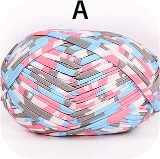 100G Woolen Yarn DIY Woven Thread Cotton Cloth Wool Yarn Hand Knitting Yarn Crocheted Blanket DIY Cushion Cloth Strip Yarn,A