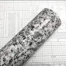 Teemall Light White Granite Look Marble Film Vinyl Self Adhesive Kitchen Countertop Peel Stick Wallpaper Decal 17.7''x98''...