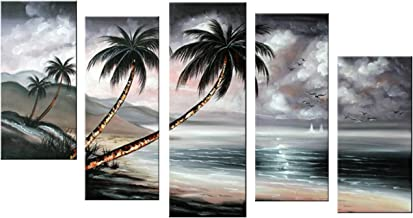 Designart OL1200 Hand Painted Cloudy Sky Modern Nature Landscape 1200 Painting