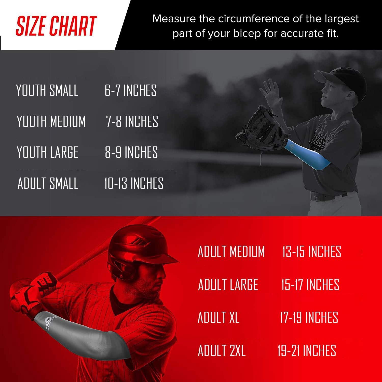 bucwild Sports Compression Arm Sleeve - Youth & Adult Sizes - Baseball Football Basketball Sports (1 Arm Sleeve) : Clothing