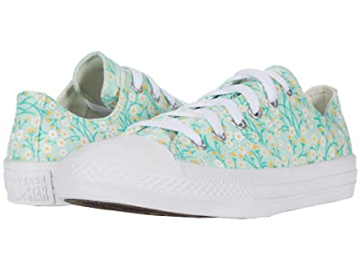 Converse Kids Chuck Taylor(r) All Star(r) Floral (Little Kid/Big Kid) (Ocean Mint/Topaz Gold/White) Girl