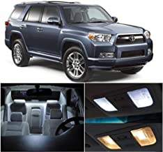 SCITOO 12Pcs White Interior LED Light Package Kit Replacement Bulbs Fits for Toyota 4Runner 2002-2012