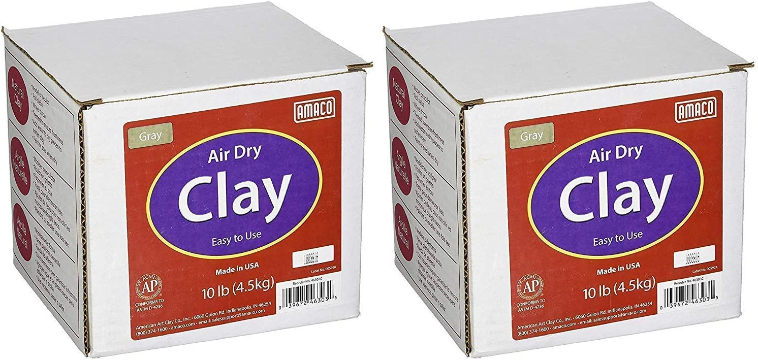 AMACO Air Over item handling Dry Modeling Clay Gray Translated 4630-3C 2-Pack Pounds 10
