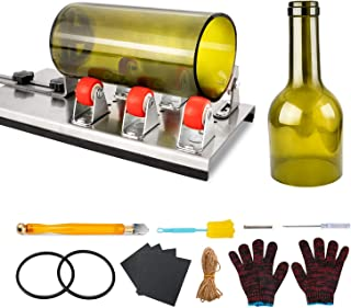 Glass Bottle Cutter, VIBIRIT Glass Cutting Tools with Accessories, DIY Wine Bottle Cutter Machine for Cutting Round or Squ...