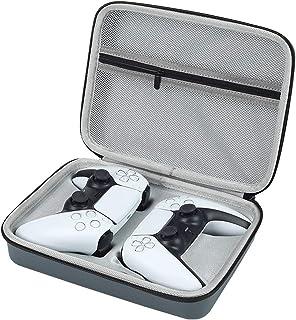 Bolsa de armazenamento com controle de jogo duplo para PS5/PS-4, estojo de transporte impermeável para Gamepad com ranhura...