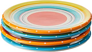 """Certified International Mariachi Canape Plates (Set of 4), 6"""", Multicolor"""