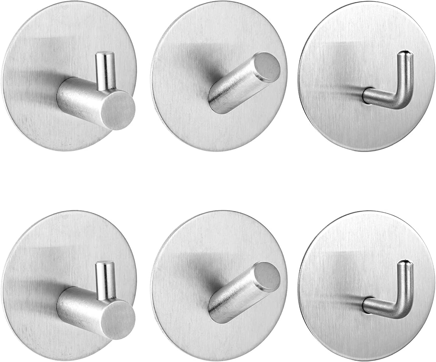 QWDLID 6 Packs Adhesive Hooks Animer and price revision Sticky Hook Translated Wall Coat Waterproof