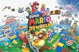 Super Mario 3D World Nintendo Platform Game Series Wii U Packaging Artwork Print Laminated Dry Erase Sign Poster 18x12