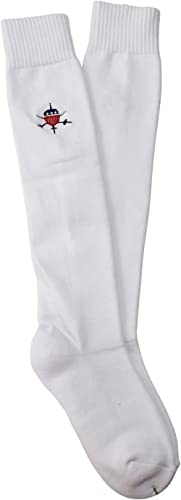 American Fencing Gear [Set of 2 Pairs Fencing Socks for Epee, Sabre and Foil - 100% Cotton - Protective Gear