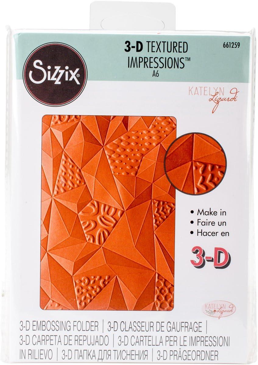 Multicolor Sizzix Ellison Europe Plumas por Katelyn Lizardi 3D Tief/ /Plantilla para Estampados