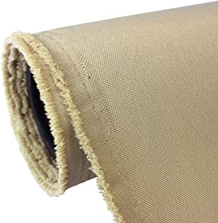 Waterproof Canvas Fabric Outdoor 600 Denier Indoor/Outdoor Fabric by the yard PU Backing W/R, UV, 2times GOOD PU Color : KHAKI 10 yards