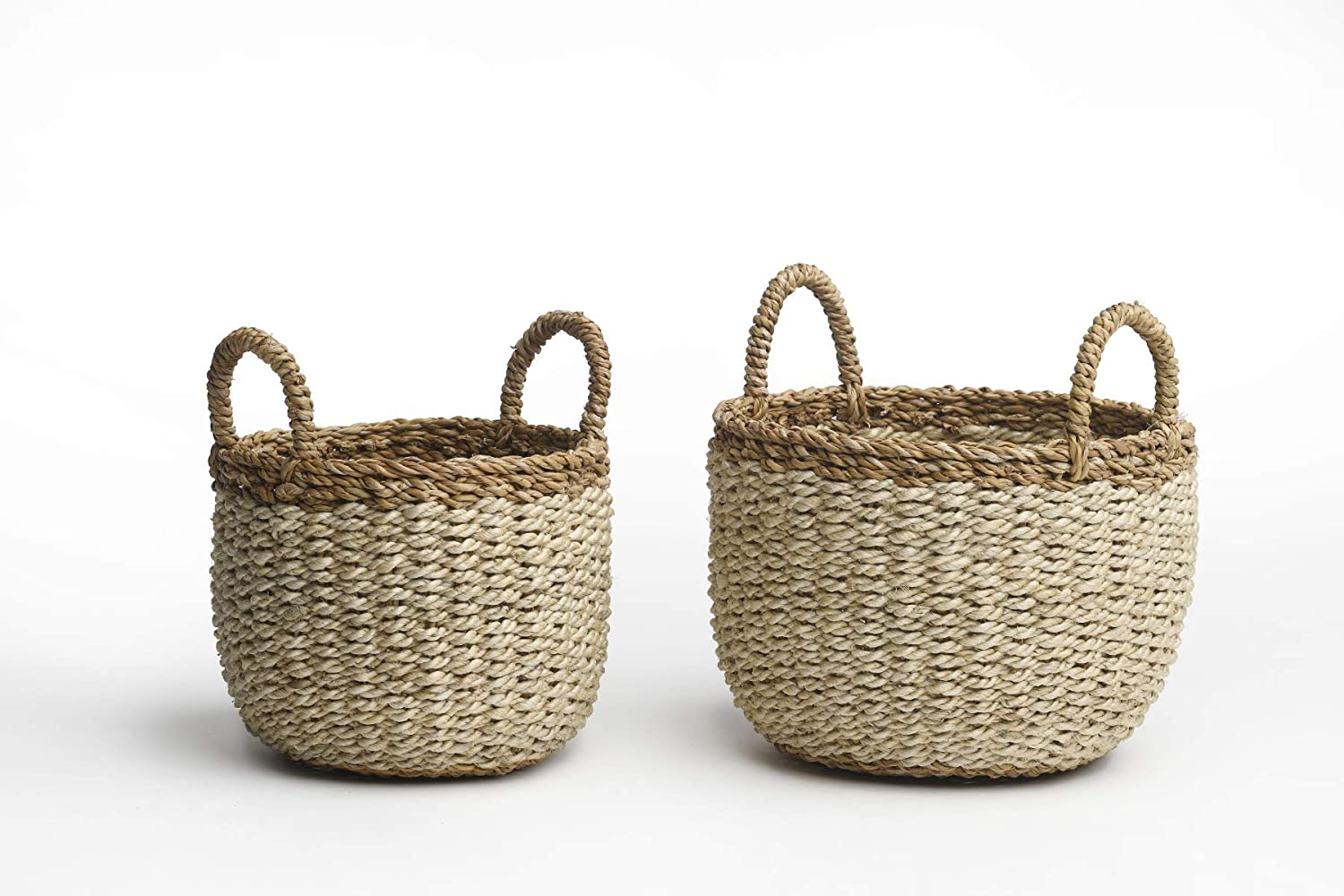Fab Habitat Seagrass Sales Direct sale of manufacturer of SALE items from new works Storage Basket Wicker Set Baskets Pattern -