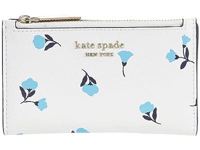 Kate Spade New York Spencer Dainty Bloom Small Slim Bi-Fold Wallet
