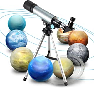 Jukkre Telescope, Travel Scope, 90 X Refractor Telescope, Astronomy Telescope Tabletop Nature Exploration Gifts Toys for K...