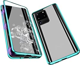IQIYEVOLEW Anti-Peep Galaxy S20 Ultra Case, Anti-spy Magnetic Clear Double-Sided Privacy Screen Protector Metal Bumper 360°Full Body Case for Galaxy S20 Ultra (S20 Ultra Green)