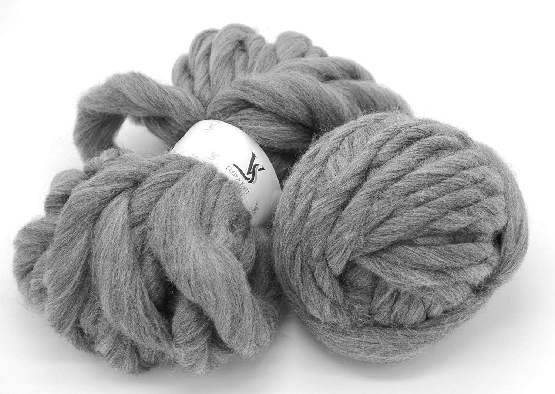 super bulky weight yarn Merino yarn dark gray 100/% Merino Gunmetal wool yarn bulky single ply merino single ply Bulky Yarn gray