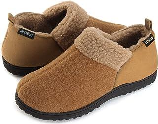 adc968e0b3765 ULTRAIDEAS Men's Cozy Memory Foam Slippers with Warm Fleece Lining, Wool- Like Blend Micro