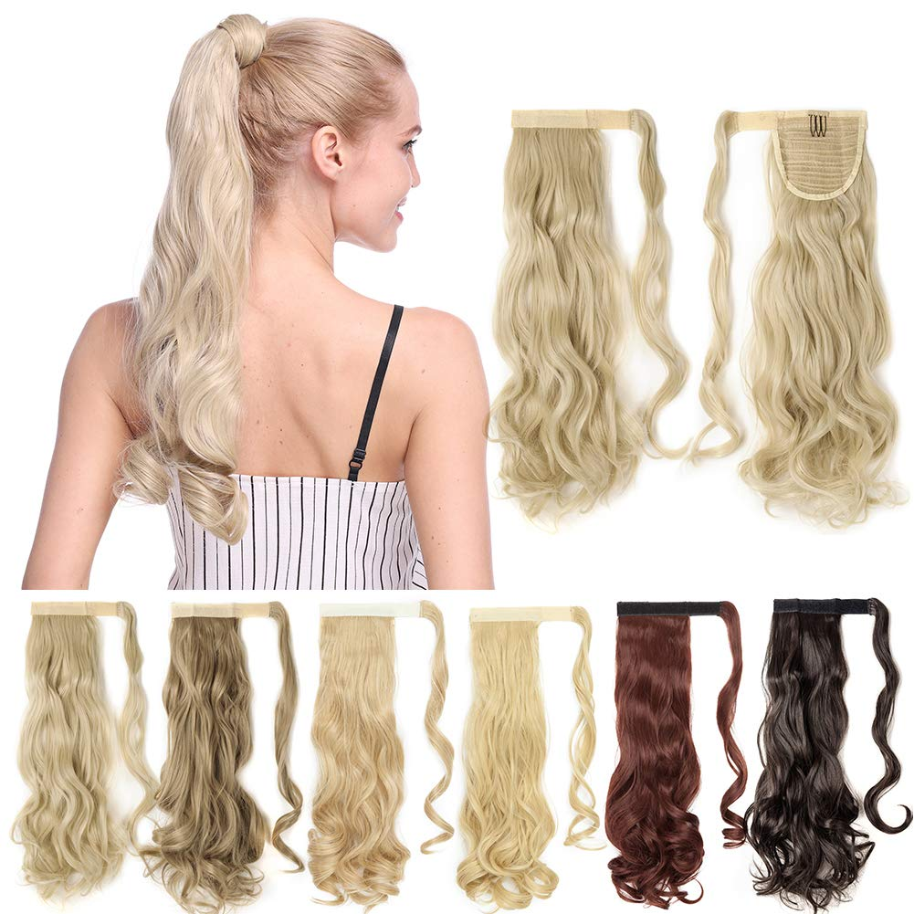 One Piece Ponytail Hair Extensions Clip Pony on T 4 years warranty Direct sale of manufacturer Around Wrap in