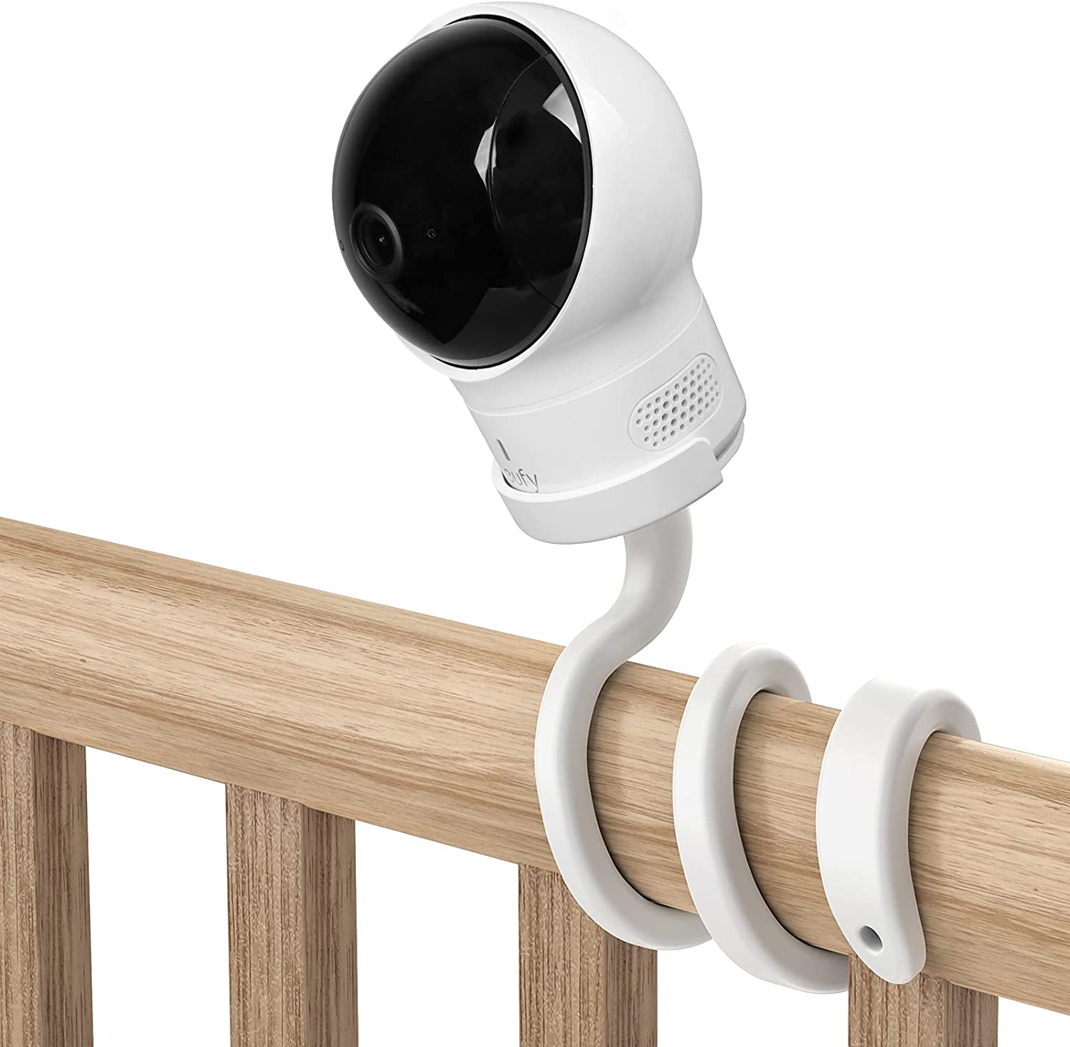 oioaahkeo Baby Monitor Mount Crib Mount for eufy Baby Monitor,Adjustable Mount for Eufy Spaceview, Spaceview Pro and Spaceview S Baby Monitor Safe (No Drilling)
